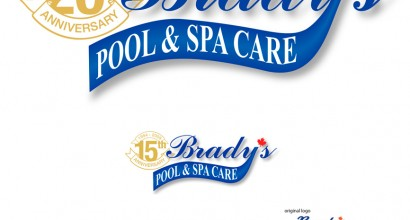 Brady's Pool & Spa Care Logo redesign