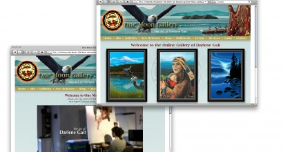 One Moon Gallery Website