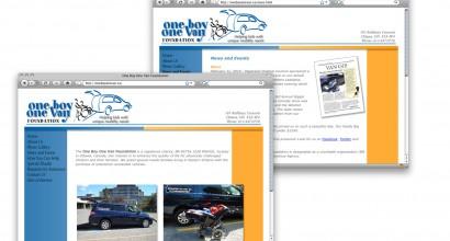 One Boy One Van Website